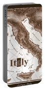 Italian Map Portable Battery Charger