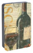 Italian Wine And Grapes Portable Battery Charger