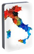 Italy - Italian Map By Sharon Cummings Portable Battery Charger