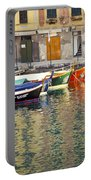Italy Portofino Colorful Boats Of Portofino Portable Battery Charger