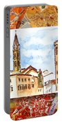 Italy Sketches Florence Towers Portable Battery Charger