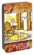 Italy Sketches Hotel Europa Regina Portable Battery Charger