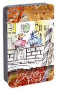 Italy Sketches Venice Two Gondoliers Portable Battery Charger