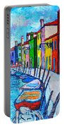 Italy - Venice - Colorful Burano - The Right Side  Portable Battery Charger