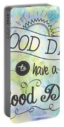 It's A Colorful Good Day By Jan Marvin Portable Battery Charger