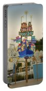 Its A Small World Fantasyland Signage Disneyland Portable Battery Charger