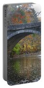 It's Autumn At The Valley Green Bridge Portable Battery Charger