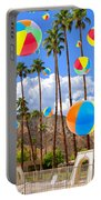 Its Raining Beach Balls Palm Springs Portable Battery Charger