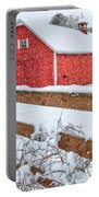It's Snowing Square Portable Battery Charger by Bill Wakeley