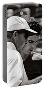 Ivan Lendl And Andy Murray  Portable Battery Charger by Nishanth Gopinathan