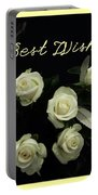 Ivory Roses Greeting  Portable Battery Charger