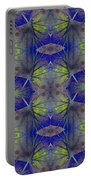 Ivy Abstract 1 Green Blue Portable Battery Charger