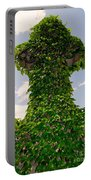 Ivy Covered Cross Portable Battery Charger