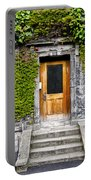Ivy Covered Doorway - Trinity College Dublin Ireland Portable Battery Charger