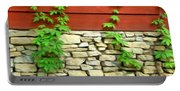 Ivy On Stone And Wood Portable Battery Charger