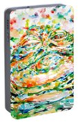 Jabba The Hutt Watercolor Portrait Portable Battery Charger