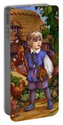 Jack And The Beanstalk By Carol Lawson Portable Battery Charger