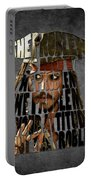 Jack Sparrow Quote Portrait Typography Artwork Portable Battery Charger