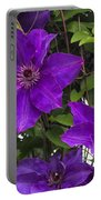 Jackmanii Purple Clematis Vine Portable Battery Charger