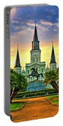 Jackson Square Evening - Paint Portable Battery Charger