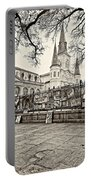 Jackson Square Winter Sepia Portable Battery Charger