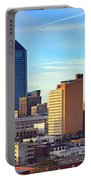 Jacksonville Skyline Morning Day Color Panorama Florida Portable Battery Charger