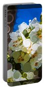 Jacobs Ladder Abstract Flower Painting Portable Battery Charger