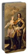 Peter I With Minerva With The Allegorical Figure Of Glory Portable Battery Charger