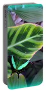 Jade Butterfly With Vignette Portable Battery Charger