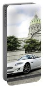 Jaguar Xk And The Capitol Building Portable Battery Charger