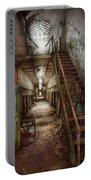 Jail - Eastern State Penitentiary - Down A Lonely Corridor Portable Battery Charger