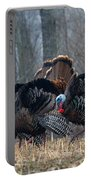 Jake Eastern Wild Turkeys Portable Battery Charger by Linda Freshwaters Arndt