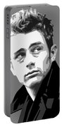 James Dean In Black And White Portable Battery Charger