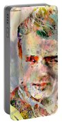 James Dean Portable Battery Charger by Mark Ashkenazi