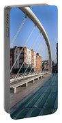James Joyce Bridge In Dublin Portable Battery Charger