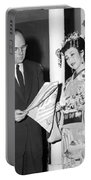 James Michener In Tokyo Portable Battery Charger