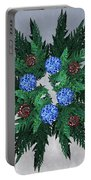 Jammer Blue Red Snow Wreath Portable Battery Charger
