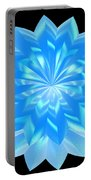 jammer Blue Shimmer Lotus Portable Battery Charger