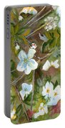 Jane's Apple Blossoms 1 Portable Battery Charger
