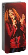 Janis Joplin Painting Portable Battery Charger