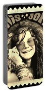Janis Stamp In A Sepia Vibe Portable Battery Charger