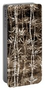Japanese Bamboo Sepia Grunge Portable Battery Charger