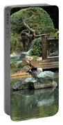 Japanese Garden At Sundown Portable Battery Charger