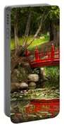 Japanese Garden - Meditation Portable Battery Charger by Mike Savad