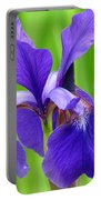 Japanese Iris By Kim Mobley Portable Battery Charger