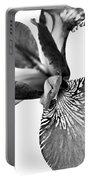 Japanese Iris Flower Monochrome 2 Portable Battery Charger