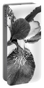 Japanese Iris Flower Monochrome Portable Battery Charger