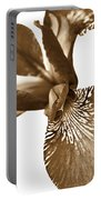 Japanese Iris Flower Sepia Brown 2 Portable Battery Charger
