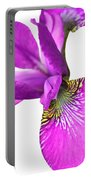 Japanese Iris Violet White Two Portable Battery Charger