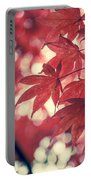Japanese Maple Leaves - Vintage Portable Battery Charger